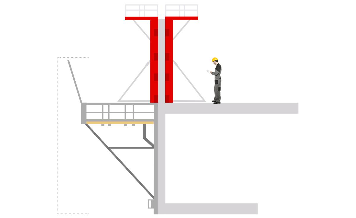 Schema construction Plateforme de travail PTE