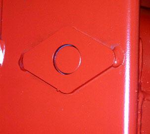 Photo de détail d'un tag et de son emplacement au pied de la banche