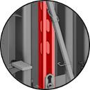 Raidisseurs verticaux permettant la flexibilité des niveaux de passage de tiges