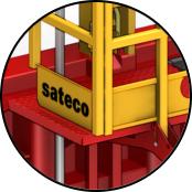 Accessoires de sécurité intégrés, colisés et fixés par broches imperdables