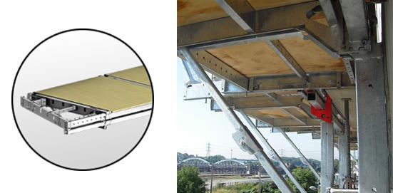 Tous les composants sont accessibles sous le plateau bois afin d'en faciliter les opérations de maintenance