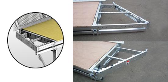 Extensions latérales en forme qui permettent la suppression du retour d'angle monobloc