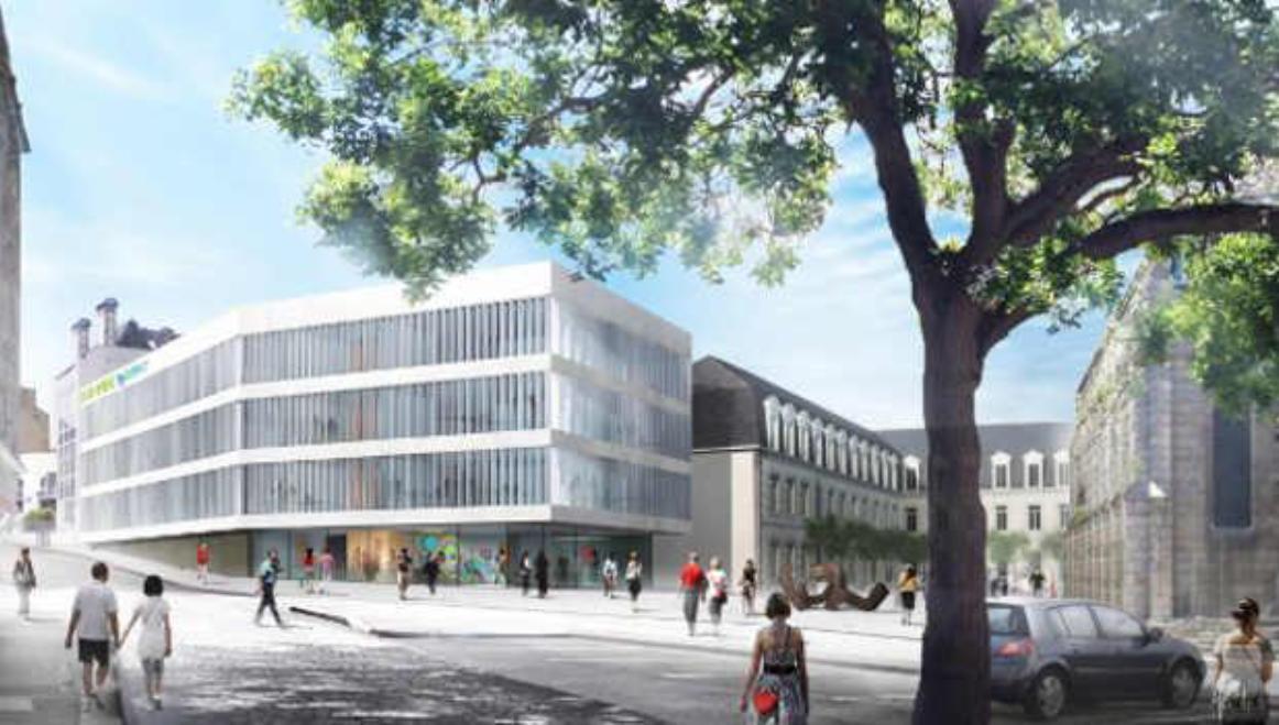 chantier Centre inter administratif de Saint Brieuc Sateco